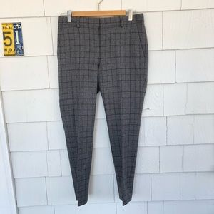 Theory Wool Windowpane Check Pants